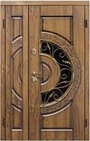 Полуторные двери Steelguard-Оптима Стеклопакет