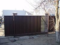 Откатные ворота из усиленного профлиста