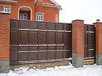 Откатные ворота из филенки