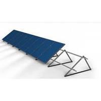 Система креплений солнечных панелей на плоскую кровлю под углом 35 градусов