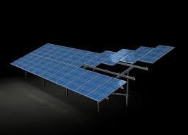 Система креплений солнечных панелей наземная