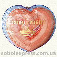 Подушки Сердечко атлас в комплекте с покрывалом