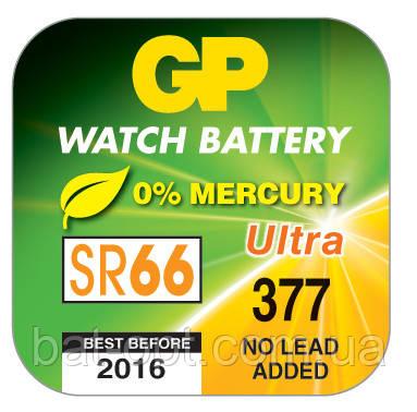 Батарейка часовая GP 377-U1 Silver SR626SW G4 таблетка