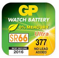 Батарейка часовая GP 377-U1 Silver (АG4, SR626SW, G4)