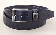 Мужской кожаный ремень Philipp Plein (синий), фото 1