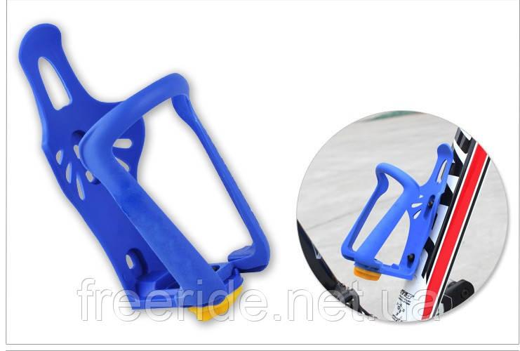 Флягодержатель Topeak регулируемый (синий) пластик
