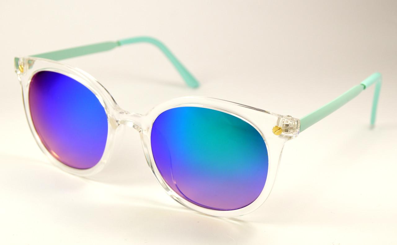 Модные голубые очки оптом (15-9404 С2)