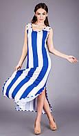 Яркий летний сарафан в модную полоску, фото 1