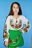 Детская юбка с вышивкой
