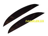 Реснички для автомобильных фар Daewoo Lanos, Sens прямые ANV Air. Тюнинговые накладки для фар Дэу Ланос