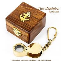 """Брелок лупа в коробке из дерева """"Таинственный остров"""" NIS033A"""