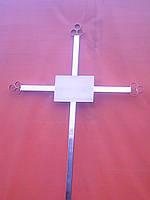 Крест надгробный металлический простой