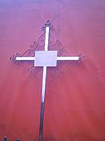 Крест на могилу металлический ажурный