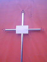 Крест могильный простой из круглой трубы.