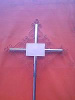 Крест надгробный из металла ажурный