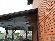 Прозрачная штора ПВХ для террасы