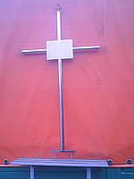 Крест металлический надгробный малый простой