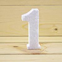 Цифра 1 из пенопласта, толщина 10 см.
