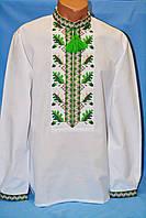 Молодежная мужская рубашка с вышивкой