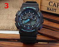 Часы  GA100 черные с синим