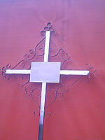 Крест надгробный малый ажурный из нержавейки