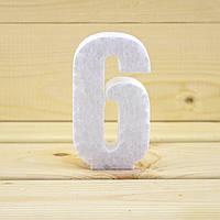 Объемная цифра 6 из пенопласта