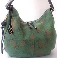 Роскошная сумка из натуральной замши с  цветочным принтом  Velina Fabbiano Новинка
