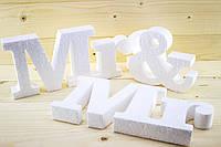 Слово из пенопласта Mr&Mrs объемное
