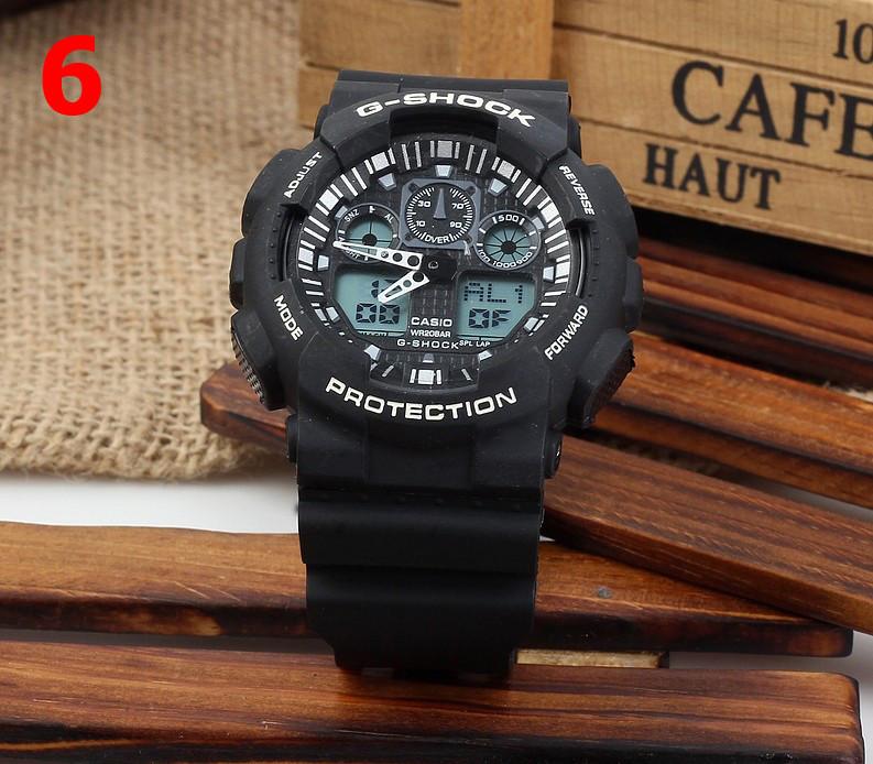 Часы  GA100 черные с белым