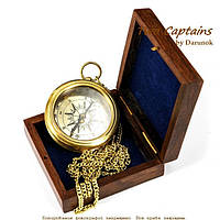 Карманный компас на цепочке в деревянной коробке Skipper 9033SB