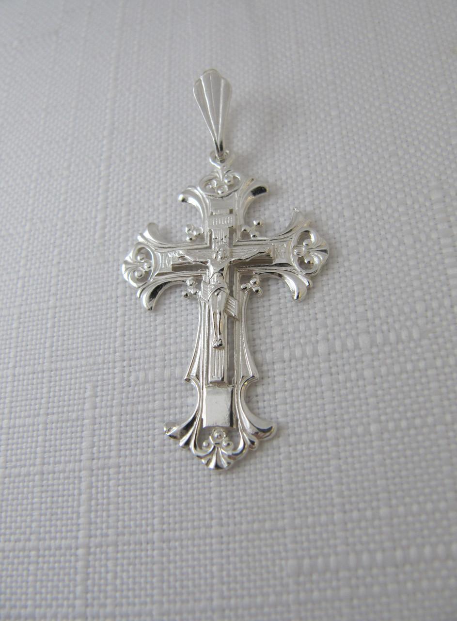 Серебряный крестик с распятием GS 925*