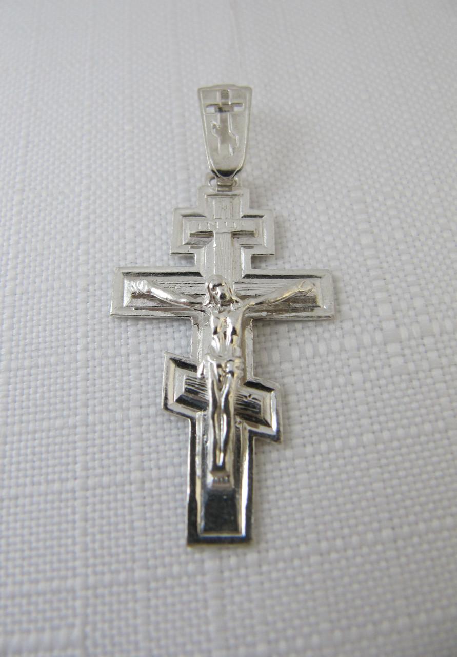 Крест серебряный с распятием