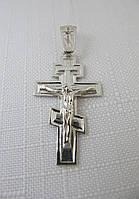 Крест серебряный с распятием , фото 1