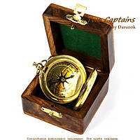 Подарочный компас в упаковке из палисандра с застежкой NI116CS1