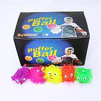 Мячик-ежик светящийся W02-1262 6 цветов, мячик попрыгунчик, светящийся мячик для детей, мини мячики светящиеся
