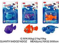Рыба водоплавающая заводная 26304 3 вида, развивающая игрушка рыбка, заводная игрушка рыбка, игрушка в ванную
