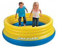 Детский игровой батут Intex 48267 203*69*45см, надувной батут intex, батут для малышей, надувной игровой центр