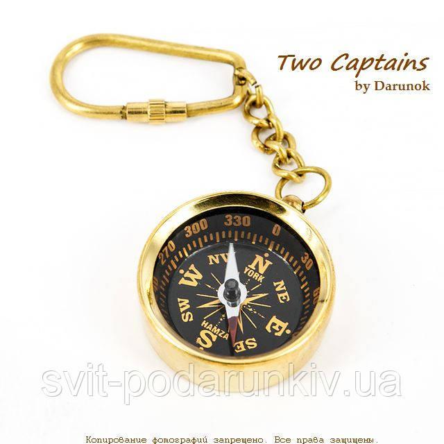 Брелок компас карманный металлический с карабином NIS023