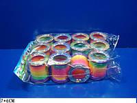 """Разноцветная пружинка игрушка """"Радуга"""" 1997, игрушка пружинка 7*6см, детская игрушка пружинка радуга"""