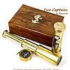 Подарочный набор подзорная труба компас песочные часы James Cook NTS5258, фото 2