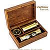 Подарочный набор подзорная труба компас песочные часы James Cook NTS5258, фото 5
