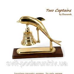 Рында сувенир дельфин с подставкой 4677SА