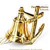 """Рында корабельный колокол с якорем """"Залив Гудзон"""" 8,5 см NIS7647, фото 2"""