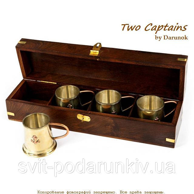 Сувенирные подарочные кружки металлические набор для текилы и рома 4 шт S4171