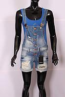 Женский джинсовый комбинезон шорты