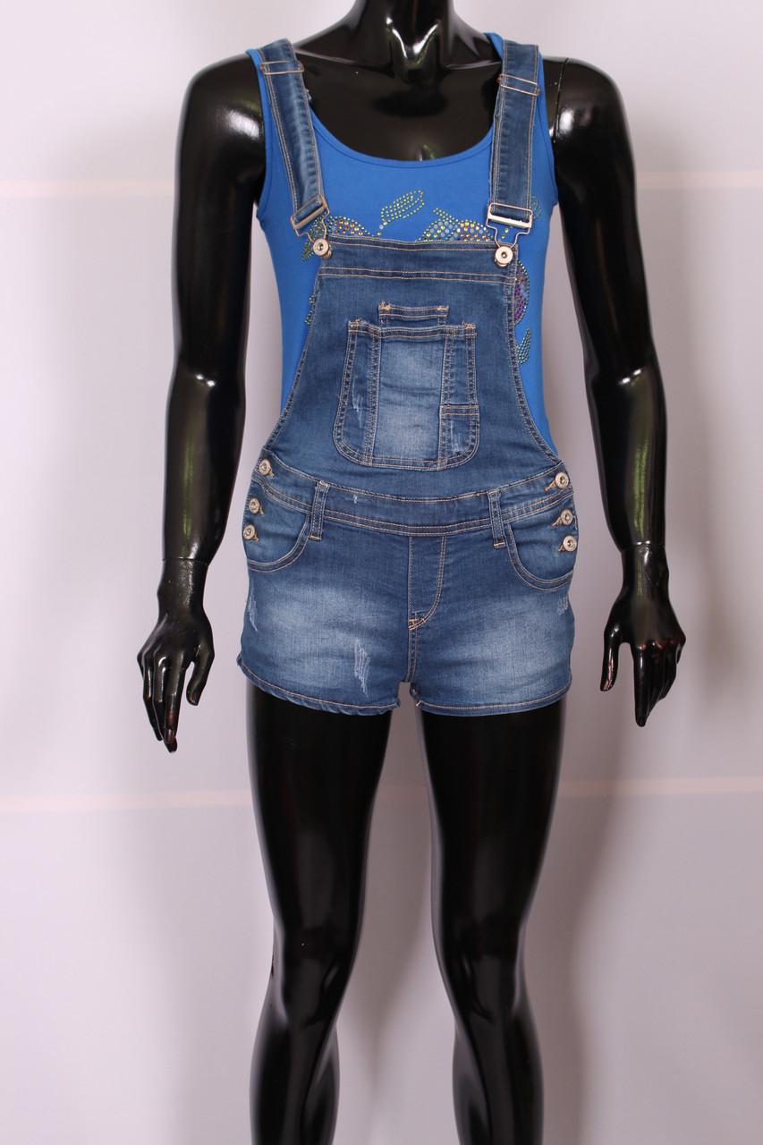 Комбінезон джинсовий з шортами