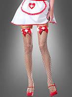 Чулки ажурные для костюма медсестры