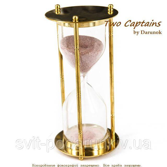 Сувенирные песочные часы в латунном корпусе на 5 минут NIS299