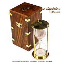 Песочные часы в подарочном футляре из дерева на 5 минут NIS299A