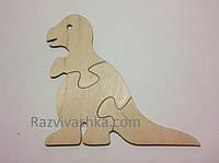 """Деревянный пазл """"Динозавр""""  для самых маленьких (собираем и раскрашиваем)"""